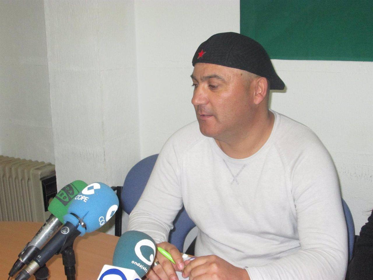 Andrés Bódalo durante la rueda de prensa