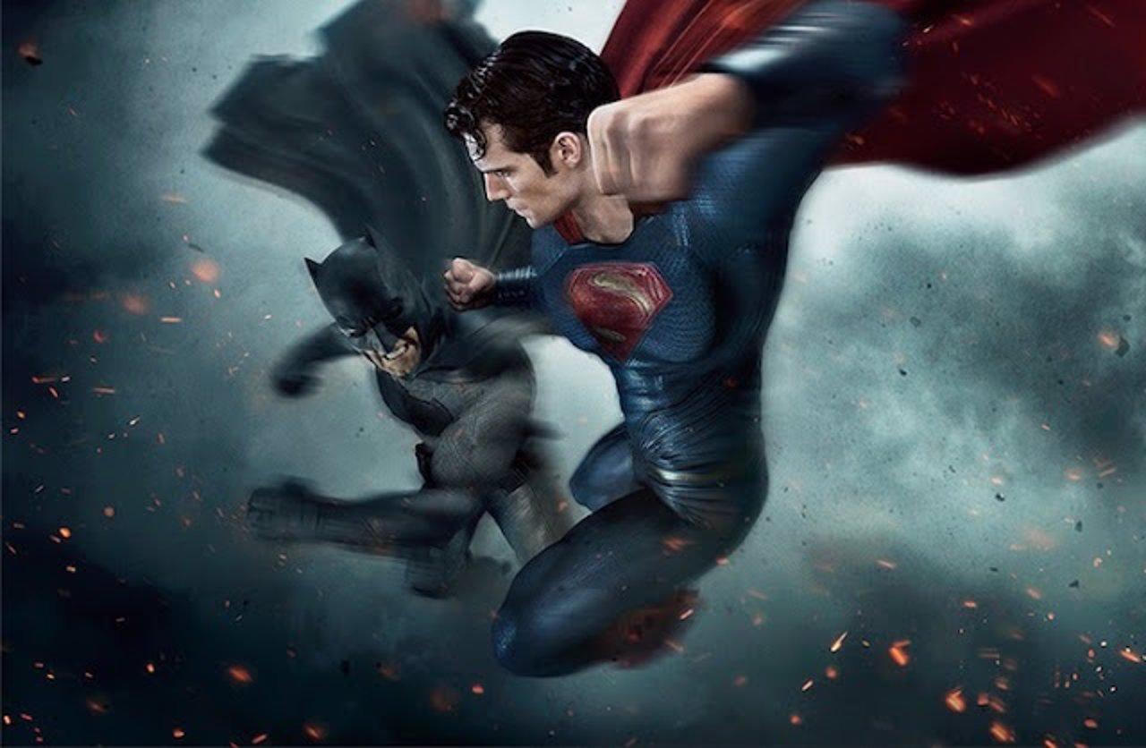 Cartel promocional de Batman v Superman: El amanecer de la Justicia