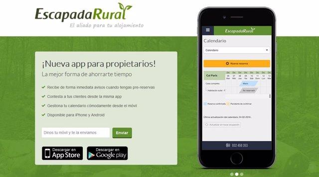 a2fc5f41eae Escapadarural lanza su aplicación para propietarios de alojamientos rurales