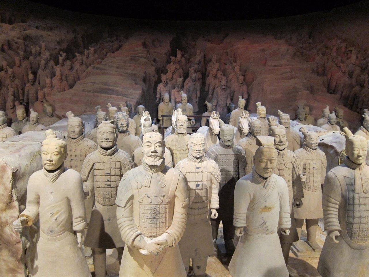Exposición 'Terracotta Army' sobre los guerreros de Xi'an