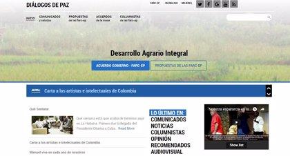 Las FARC estrenan una nueva página web