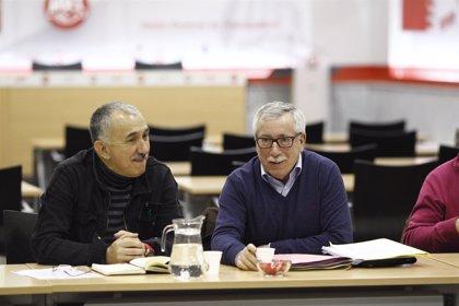 """Los sindicatos trasladarán a los partidos la urgencia de un Gobierno """"de cambio y progreso"""""""