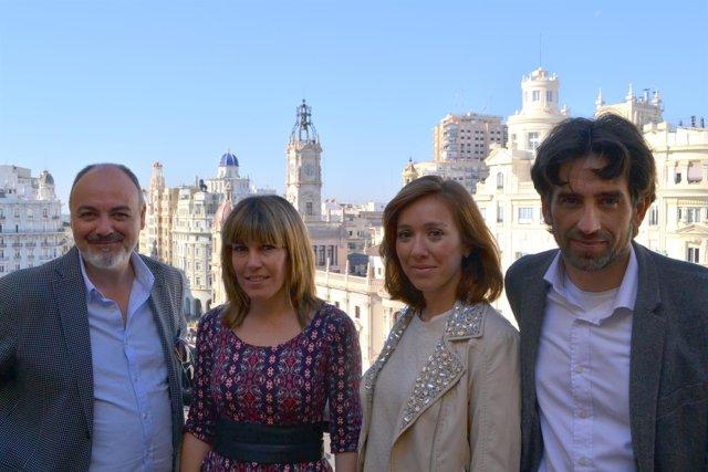 Rafael Maluenda, Ana Ramón Rubio, Maria Albiñana y José Luis Moreno