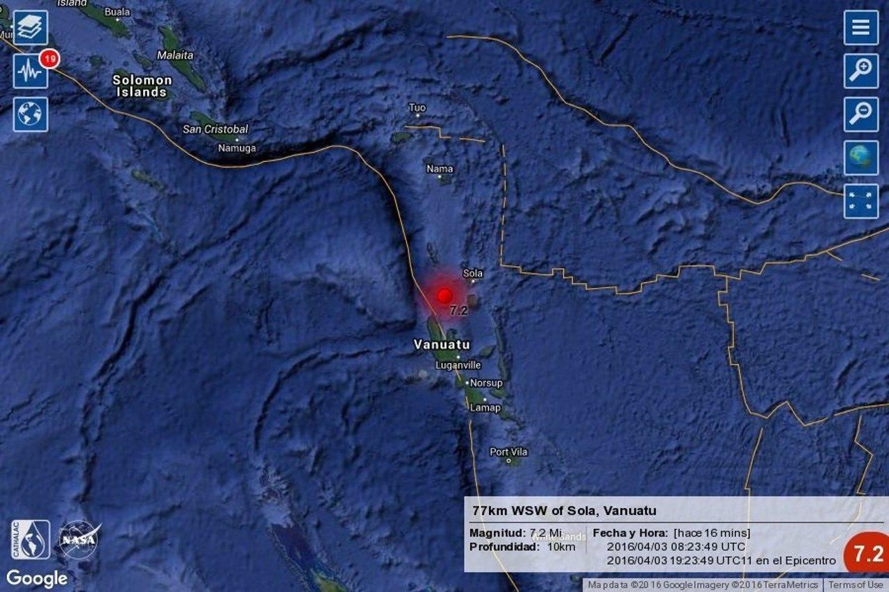 Seísmo con alerta de tsunami en Vanuatu
