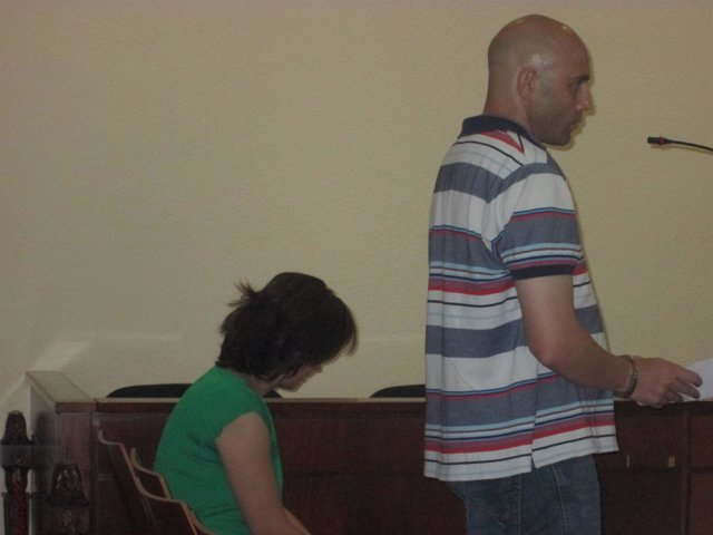 El acusado en su declaración durante el juicio en la Audiencia de Jaén