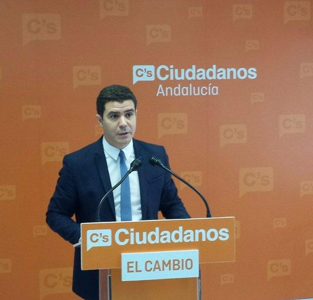 El portavoz adjunto de Ciudadanos en el Parlamento andaluz, Sergio Romero