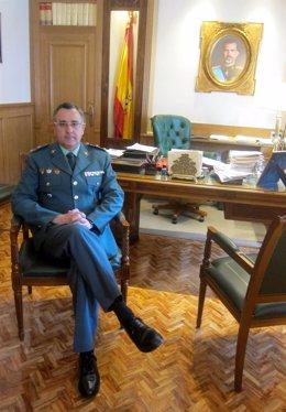 El jefe de la Comandancia de Jaén, el teniente coronel Luis Ortega.