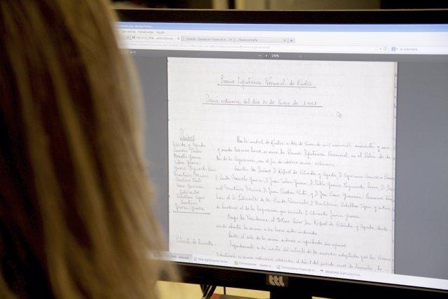 La Diputación de Huelva digitaliza actas capitulares