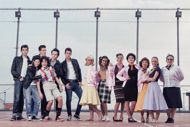 Protagonistas del musical de Grease