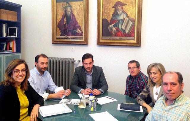 Reunión de la presidenta de la Diputación de Palencia en Antigüedad