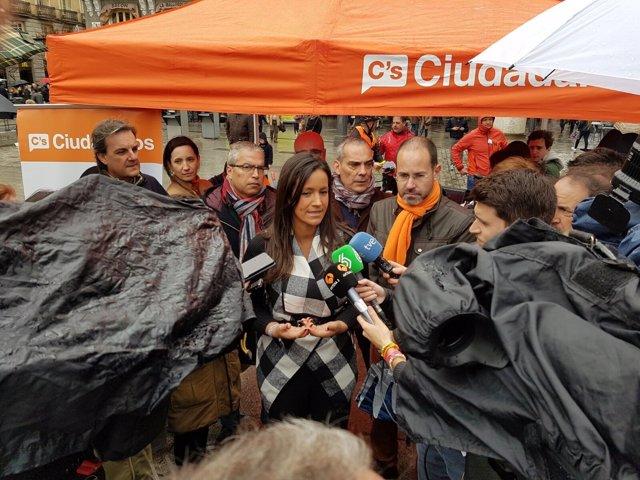 Villacís en un acto en Madrid