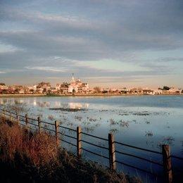 Vista de la aldea de El Rocío, Almonte (Huelva).