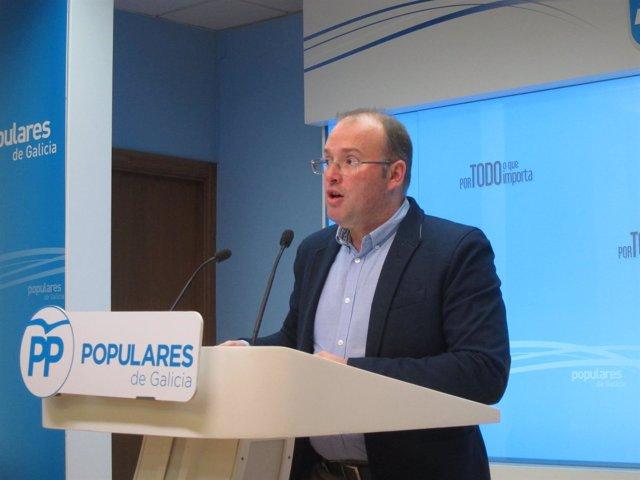 El portavoz del PPdeG, Miguel Tellado
