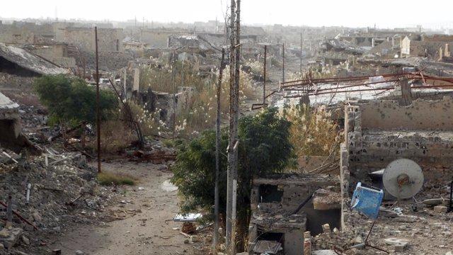Edificios destruidos en Ramadi, Iak