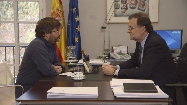 Jordi Évole y Mariano Rajoy en Salvados