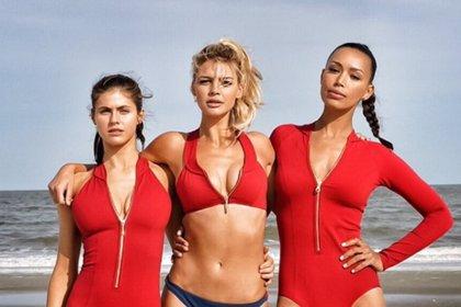 Vigilantes de la Playa: Alexandra Daddario, Ilfenesh Hadera y Kelly Rohrbach, juntas en el set