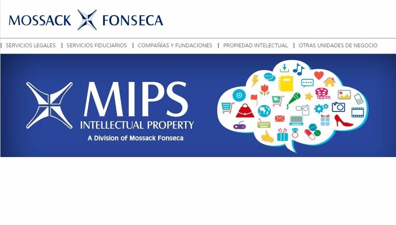 Página web de Mossack Fonseca, bufete de los 'papeles de Panamá'