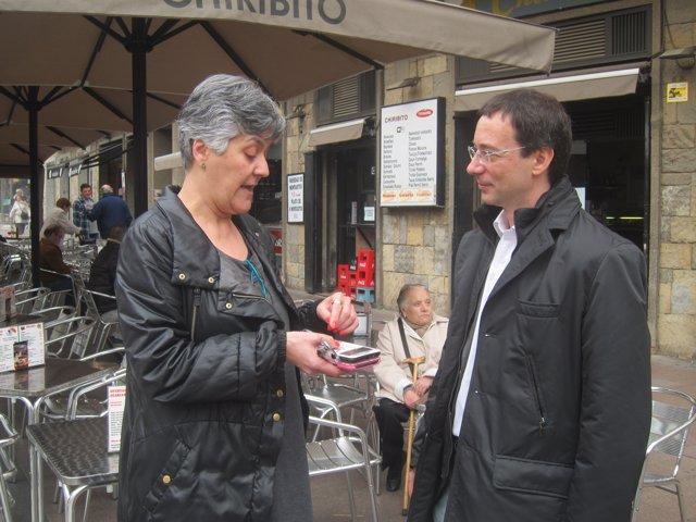 Maite Fernández y Santiago Alonso, este lunes