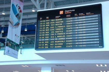 El grupo mexicano GAP registra nueve millones de pasajeros a marzo, un 17,8% más