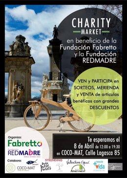 Cartel mercadillo solidario Charity Market de Madrid 2016