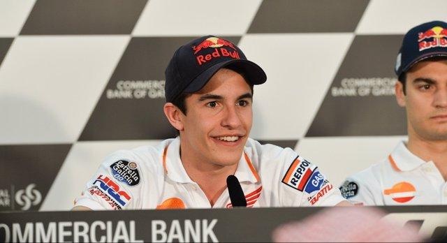 El piloto español Marc Márquez en rueda de prensa