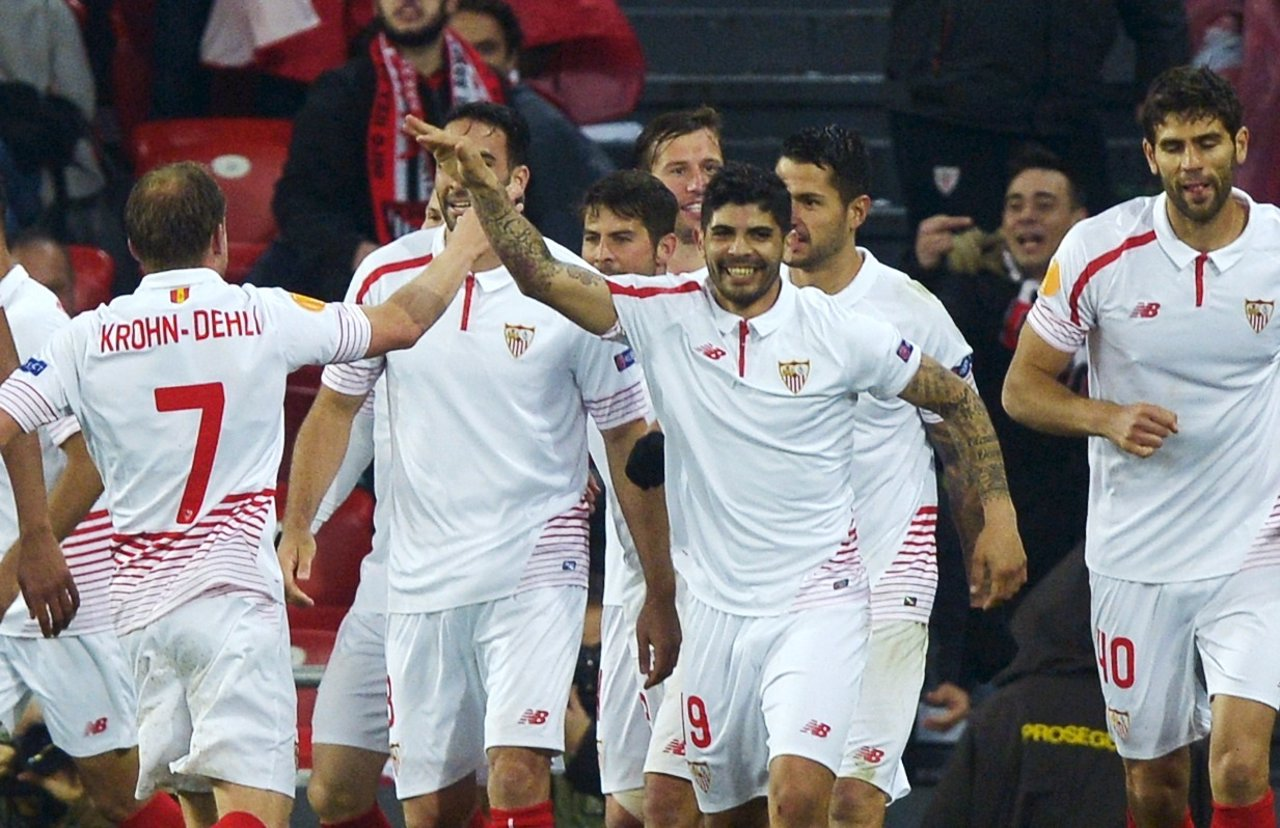 El Sevilla vence al Athletic en cuartos de la Europa League