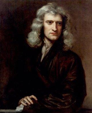Pintura que representa a Isaac Newton