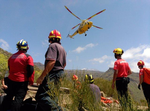 Rescatan el cuerpo sin vida de un senderista en Tenerife