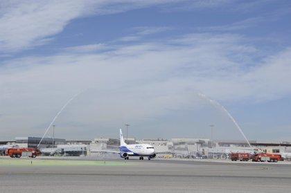 Aena registró 42,7 millones de pasajeros hasta marzo, un 14,4% más, con un 9% más de vuelos