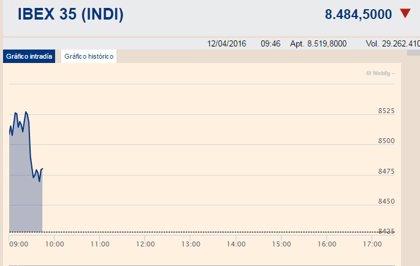 El Ibex sube un 0,14% en la apertura y conquista los 8.500 enteros