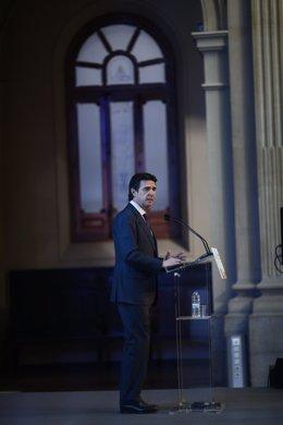 El ministro José Manuel Soria en un acto en la Bolsa de Madrid