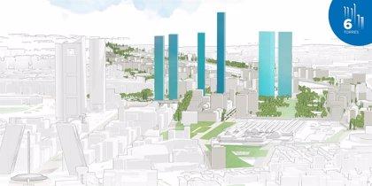 Distrito Castellana Norte plantea construir seis torres, una de ellas la más alta de la UE