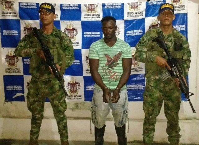 Armada colombiana captura a 'Mapita' jefe de finanzas de apoyo al terrorismo