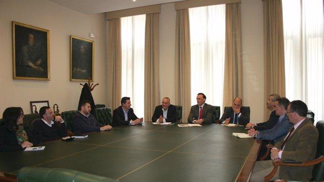 La reunion entre responsables de la UCO y Fides