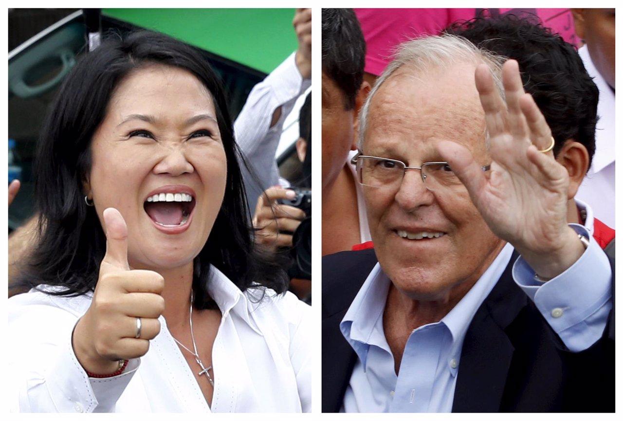 Los candidatos a la Presidencia de Perú Keiko Fujimori y Pedro Pablo Kuczynski