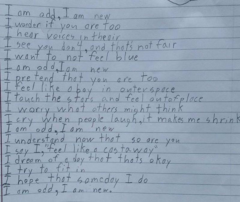 'I am', el poema con el que un niño con Asperger conmovió a Facebook