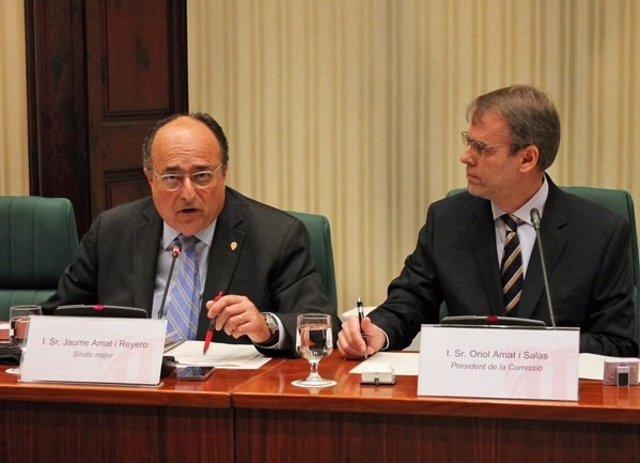 El Síndic de Cuentas, J.Amat, y el diputado de JxSí O.Amat