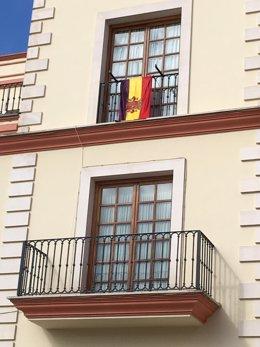 Bandera republicana en Bollullos de la Mitación (Sevilla)