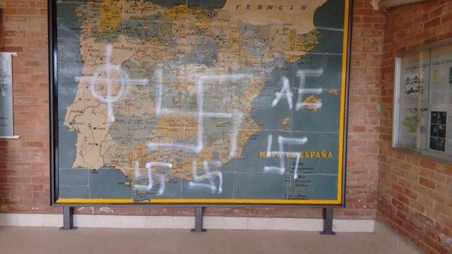 Mapa de La Barranca con pintadas