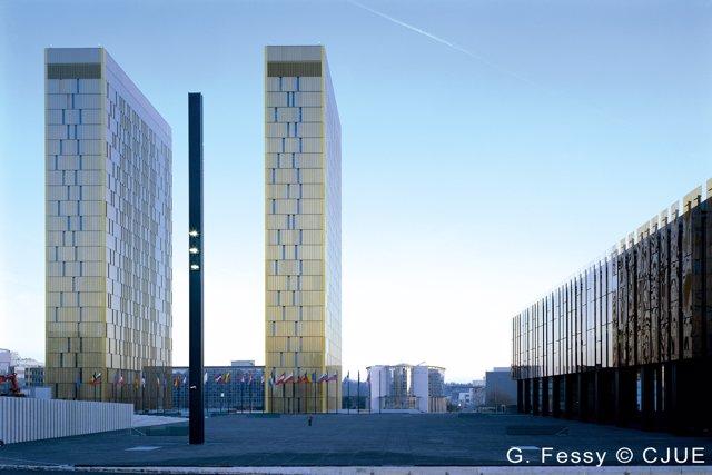 Una Imagen Del Tribunal De Justicia De La UE En Luxemburgo