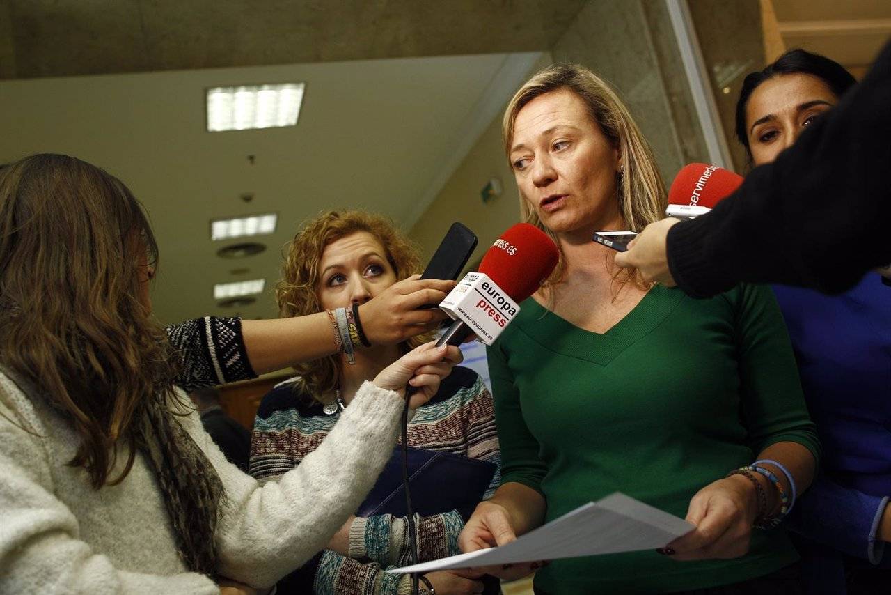 La diputada de Podemos y juez Victoria Rosell en el Congreso