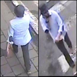 Imágenes del 'terrorista del sombrero' difundidas por la Policía
