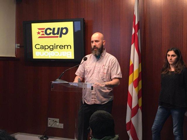 El concejal de la CUP en el Ayuntamiento de Barcelona Josep Garganté