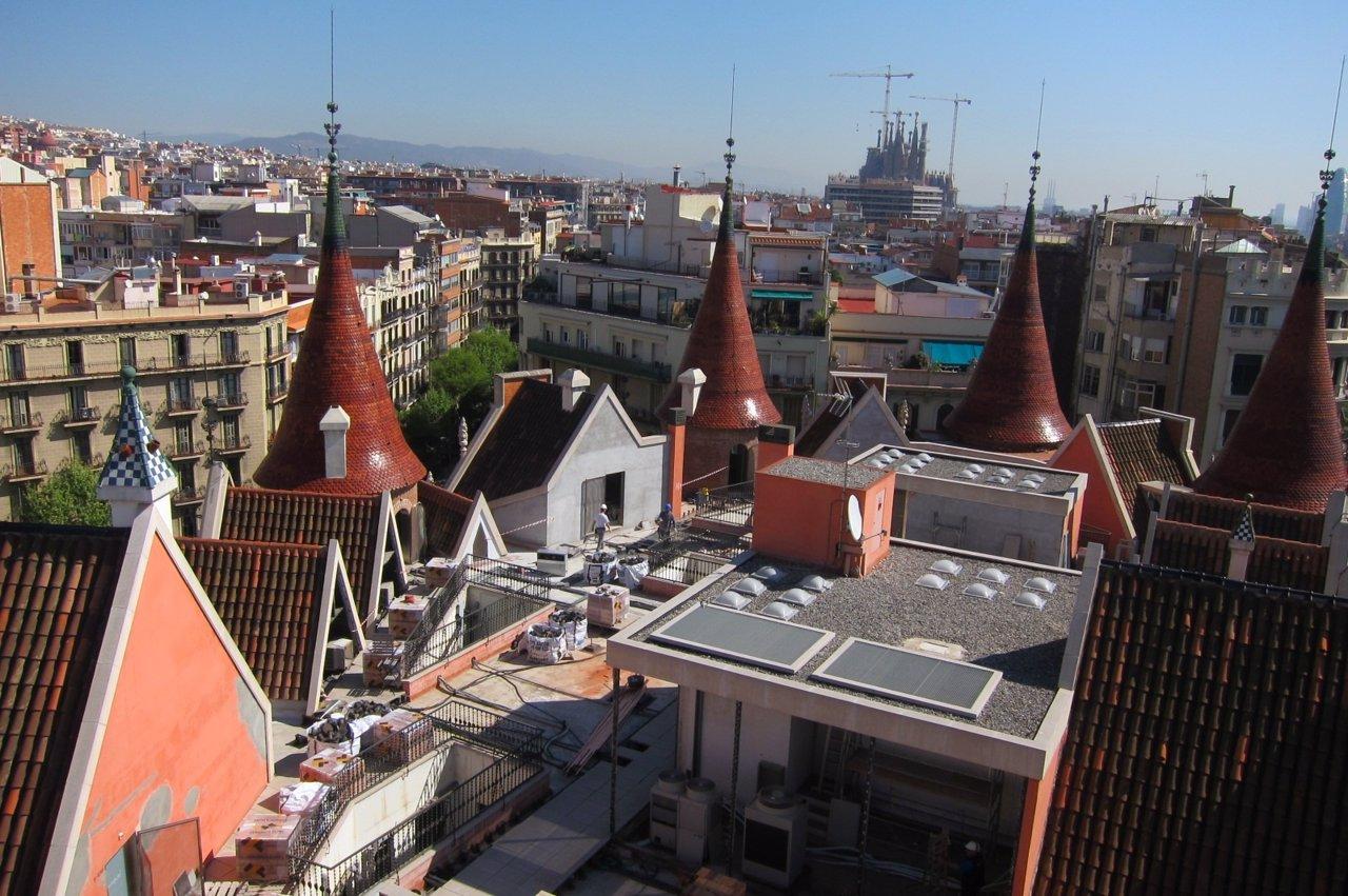 Vista desde la terraza de la Casa de les Punxes