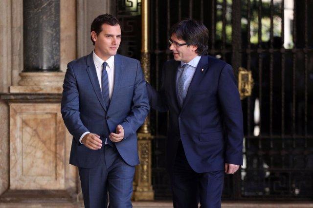 Albert Rivera y Carles Puigdemont