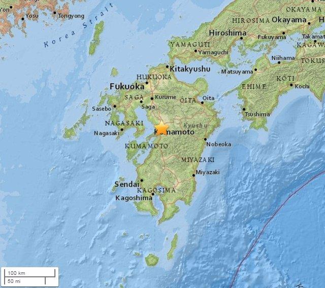 Terremoto de Kumamoto en Japón