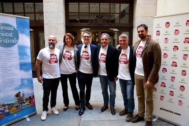 Presentación del Festival Plot Series con la alcaldesa de Girona Marta Madrenas