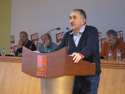 """Álvarez (UGT) critica el """"cinismo increíble"""" de Soria y pide una """"rápida"""" investigación"""