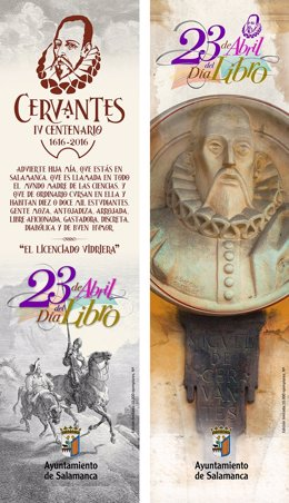 Cartel anunciador de la Feria del Libro de Salamanca.