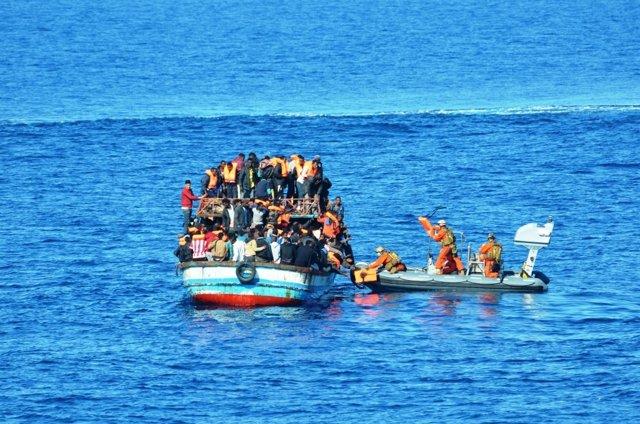 Rescate en la costa de Libia